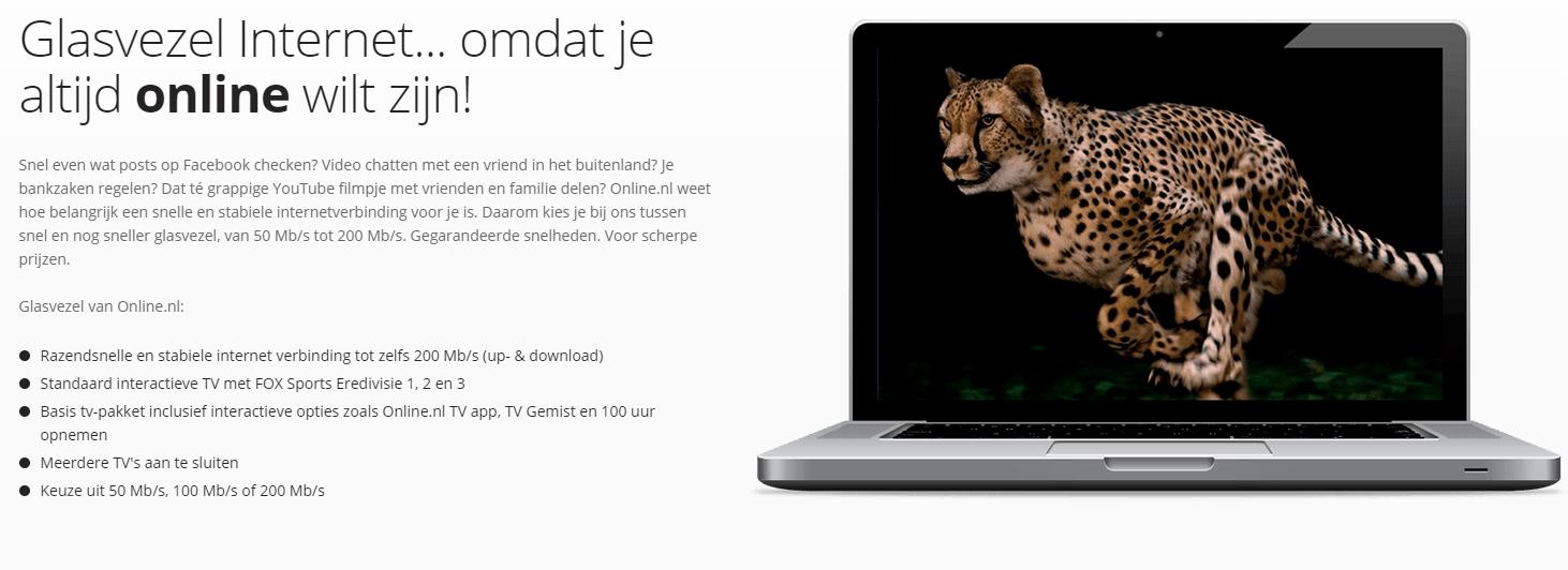 Online.nl Glasvezel