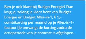 Vermelding door Budget